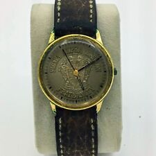 Vintage Bulova Accutron Quartz Sigma Alpha Epsilon Fraternity Mens Wrist Watch