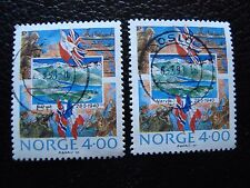 NORVEGE - timbre yvert et tellier n° 1000 x2 obl (A04) stamp norway
