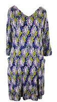 White Stuff Multi Leaf Print Jersey Top Tunic Smock Dress UK Size 16 EUR 44