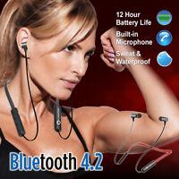 Sweatproof Headphones Wireless Bluetooth Sport Neckband Earphones Stereo Headset
