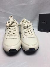 Coach Raylen Sneaker  Chalk / Chalk A01378  Leather NIB