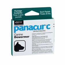 Panacur C Canine Dewormer Dogs 2 Gram Treats - 20 Lbs (3 Packets)
