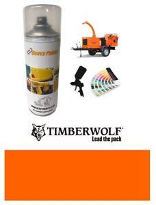 Timberwolf Wood Chipper Orange Paint High Endurance Enamel Paint 400ml Aerosol