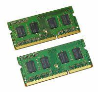 2GB DDR3 (2x 1GB) 1333MHz PC3-10600S 1Rx8 SO-DIMM 204-PIN LAPTOP MEMORY RAM