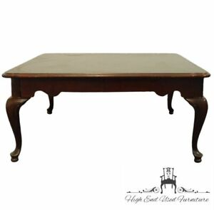 """High End Vintage Solid Mahogany Traditional Queen Anne Style 38"""" Square Accen..."""
