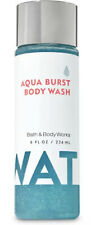 *New* WATER  AQUA BURST  Body Wash  Bath & Body Works - FULL SIZE