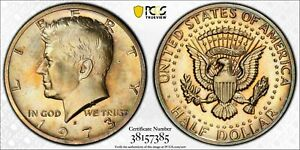 1973-S KENNEDY HALF DOLLAR PCGS PR66 PROOF UNC BU STRIKING COLOR TONED