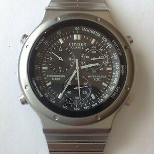 Citizen 3530-351061 alarm chronograph Speedmaster-style watch, 39 mm, silent