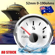 AU Marine Fuel Water Gauge Boat Oil Tank Level Indicator 12/24V 52mm 0-190Ω