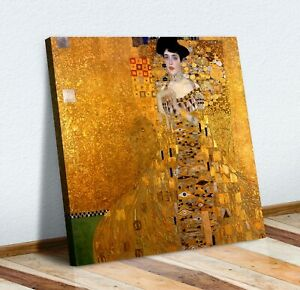 Gustav Klimt Adele Bloch-Bauer I CANVAS WALL ART PICTURE PRINT PAINTING GOLD