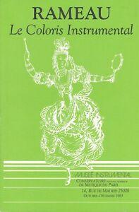 Année Rameau - le coloris instrumental (octobre-decembre 1983)
