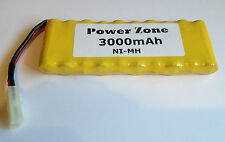 12v 3000mAh  NI-MH RC Rechargable AA Flat Power Pack Battery free P&P