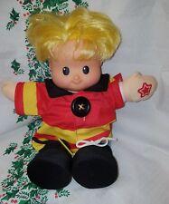Little People Learn to Dress Talking Boy Doll Wearing Fireman's Clothing