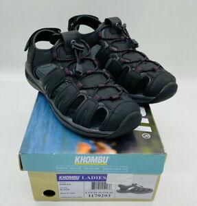 Khombu Sandal Women's Ashley Adjustable Sport Active Sandal Black Purple US 8