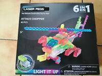 """LASER PEGS """"attack chopper"""" 6 en 1 hélicoptère, Briques de construction"""
