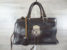Dooney & Bourke Amber Alto Italy Dark Brown Shoulder Bag Satchel Handbag