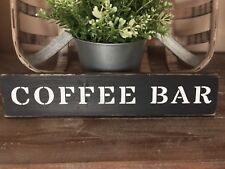 Rustic Wood Sign COFFEE BAR Country Farmhouse Home Decor Kitchen Welcome Prim