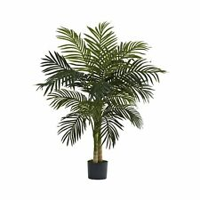 Nearly Natural 5357 Golden Cane Palm Tree, 4-Feet, Green 40 diam. x 48H in.