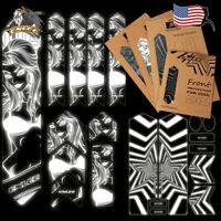 1-4PCS ENLEE MTB/Road Bicycle Frame Fork Stickers 3D Reflective Protective Decal
