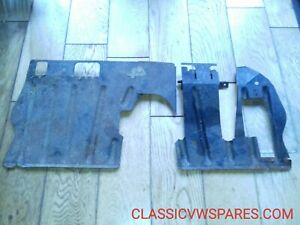 CLASSIC VW BEETLE 1968-on GENUINE 2x O/S+N/S INTERIOR FOOTREST PLATES PANELS