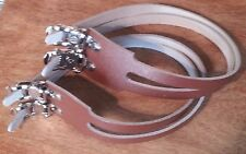 NEW Victor VP Components Road Bike Vintage BROWN Leather DOUBLE Toe Straps