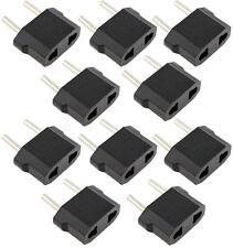 10X/Lot US USA to EU Euro Europe Power Jack Wall Plug Reisestecker Strom Adapter