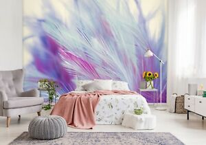 3D Purple Feather R655 Wallpaper Wall Mural Self-adhesive Commerce Kay