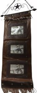 Leather Mail  Picture Holder Wall hanging
