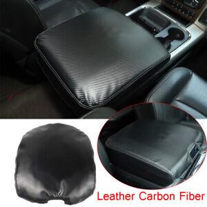 Carbon Fiber Console Armrest Box Pad Cover Leather Cushion For Dodge RAM 2010-17