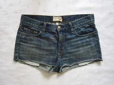 Current/Elliott EASY LOVE Cut off Medium Wash Blue Denim Shorts ~ Size 25 / W31