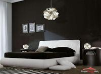 OFFERTA Lampadario design moderno + 2 Abat jours. Luci camera letto, salotto