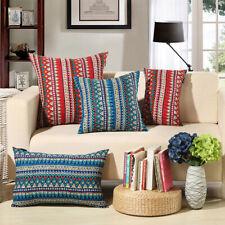 Cushion Cover Cotton Linen Throw Pillowcase Print Sofa Waist Pillow Cover Decor
