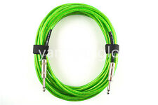 30ft Green Transparent Electric Guitar Cable Amplifier Cable Low Noise Shielded