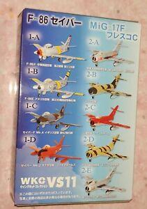 F-Toys 1:44 scale WKC11 F-86 MIG-17F full set (9 models + 1 secret model )