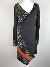 autonomy Size 16 Asymmetric Knitted Tunic Dress Quirky Patches