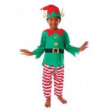 Navidad Niño Niña Natividad Elfo Niños Disfraz 3-5 años