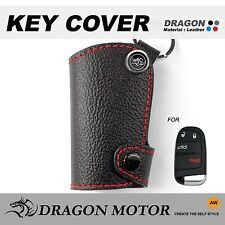 Leather Key fob Holder Case Chain Cover fit For DODGE Caliber Charger Grand