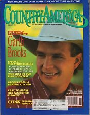 Country America Magazine February 1991 Garth Brooks and Much More