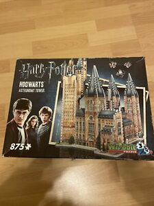 Harry Potter Hogwarts Astronomy Tower 3D Puzzle 875 Piece Wrebbit PRE OWNED