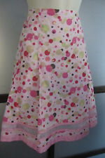 Cynthia Steffe Skirt Cotton Pink Polka Dots A Line Pleated Adorable USA Made 10