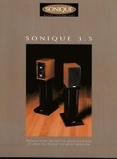 Sonique 3.5 Original Speaker Spec Sheet