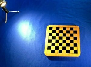 1990's HANDMADE HARD MAPLE GRAIN CUT CHESS BOARD