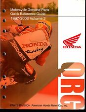 1997-2006 Honda Motorcycle & Atv Qrg Quick Reference Guide Parts Manual (951)