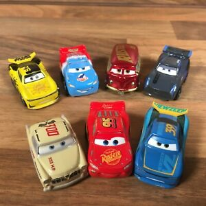 7 x Disney Pixar Cars Mini Diecast Racers Jackson Storm George New Leroy Hemming