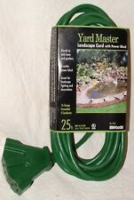 Woods Landscape W/Power Block 25' 3-Wire 16-Gauge 3 Plug Grounded Extension Cord
