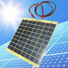 Solar Cell Panel 5W 12V Pour batterie voiture Chargeur Backpack Alimentation DC