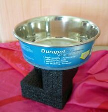 ~NEW~DURAPET~Our Pets~(2 Qt.) Stainless Steel~Rubber Base~DOG Bowls~