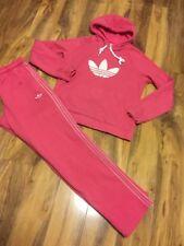 Adidas Ladies Pink Tracksuit Size S/M