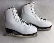Figure Skates Leather Girls American Lined Size 1 White