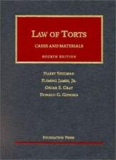 Cases and Materials on the Law of Torts [University Casebook Series]
